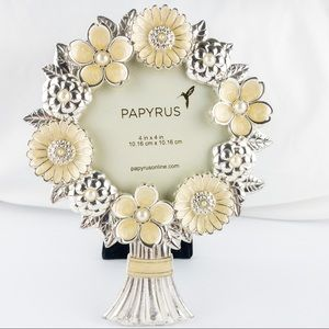 Faux Pearl and Enamel Floral Picture Frame